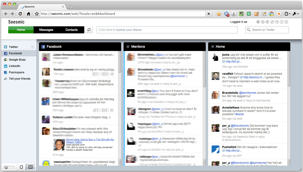 Seesmic Web HTML5 twitterklient