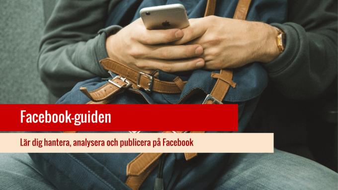 Facebook guide för sociala medier.