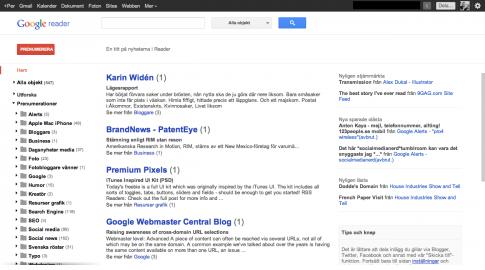 Nya Google Reader