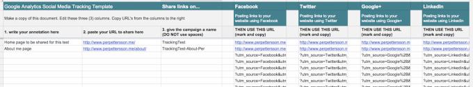 Spåra sociala medier med Google Analytics (en mall i Drive)
