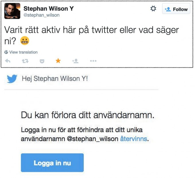 Inaktiva twitterkonton får varningar via epost