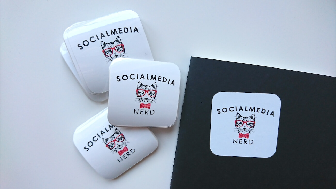 Social Media Nerd stickers
