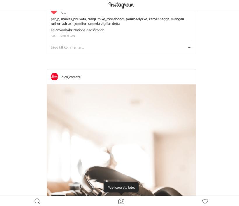 Instagram i webbläsaren