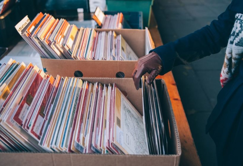 Marknadsplats - gamla vinylskivor