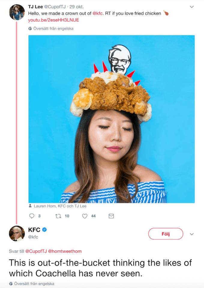 KFC tweets och svar