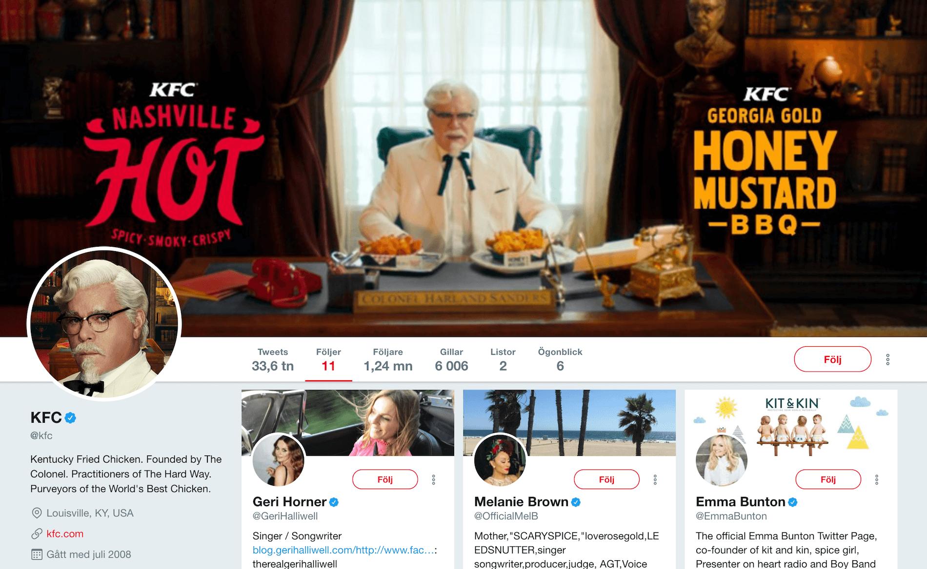 KFC på Twitter