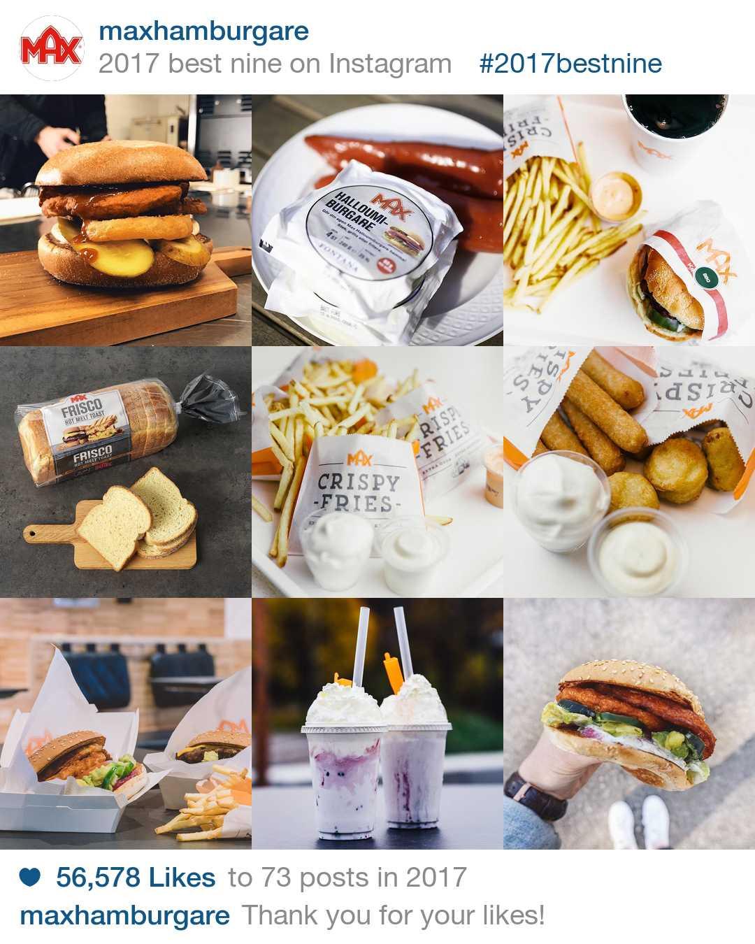 Max Hamburgares 9 bästa Instagrams under 2017
