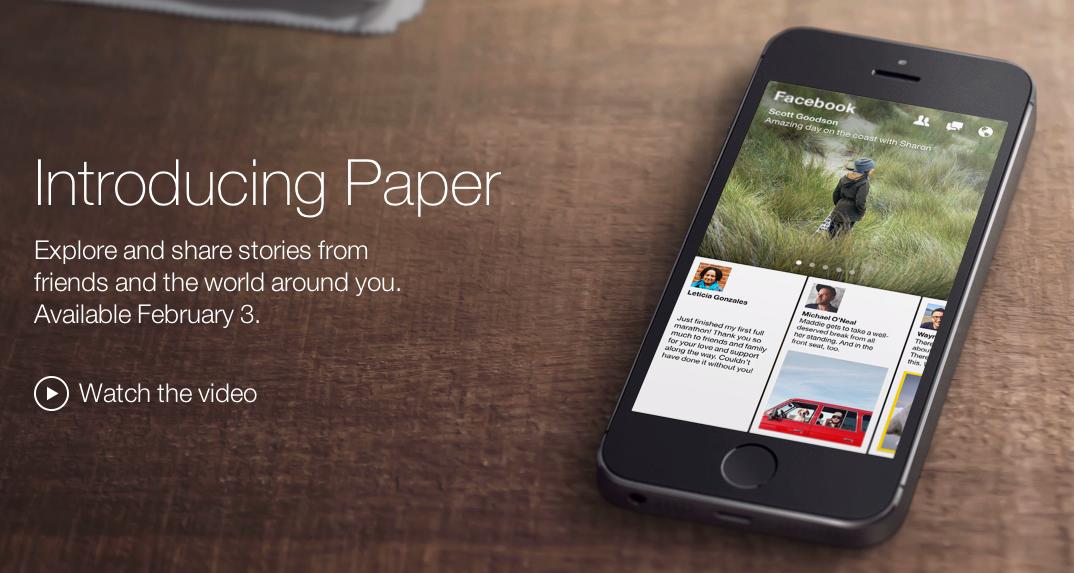 Facebook Paper tar sig an Flipboard