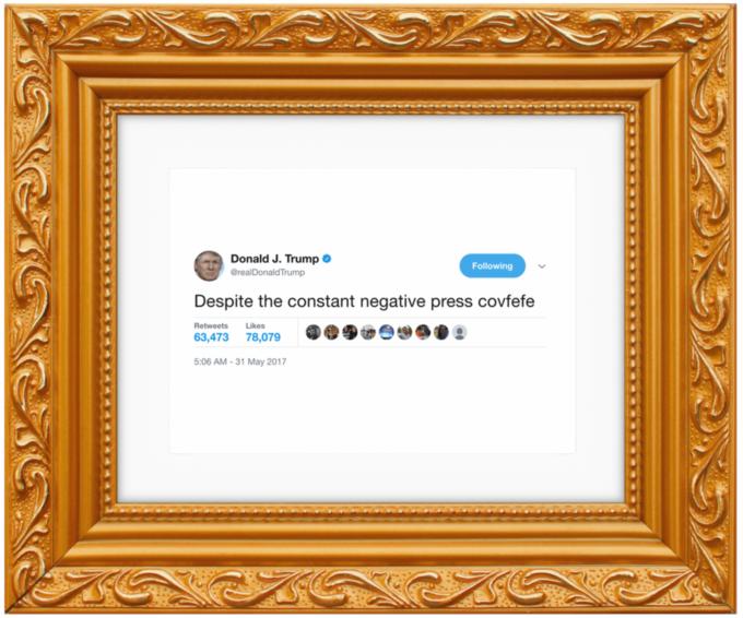 Covfefe från Donald Trump - inramad