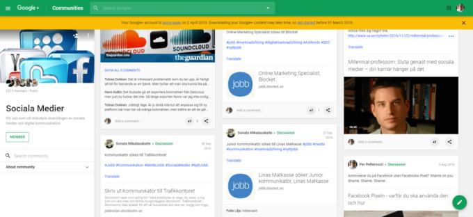 Google+ grupper